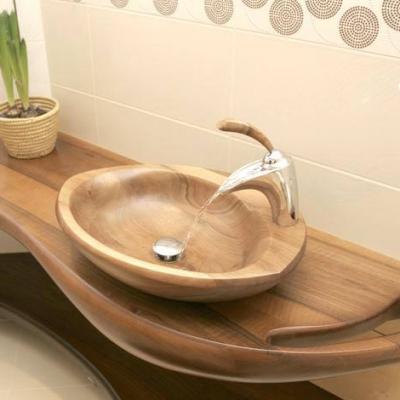 Drevené orechové umývadlo s podumývadelníkom