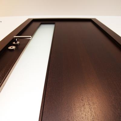 Dubové dyhované dvere - morené