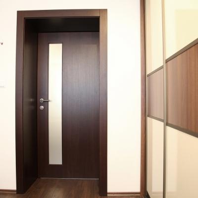 Dubové dyhované interiérové dvere - morené