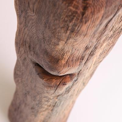 Dubový kartáčovaný jedálenský stôl s kovanými klincami. Úprava s čiernou patinou 12