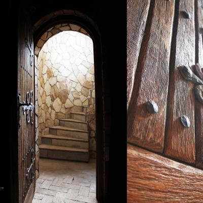 Dubovové kartáčované vchodové dvere