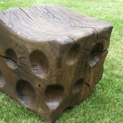 Dubové kartáčovane masívne taburetky - stolčeky voľná tvorba